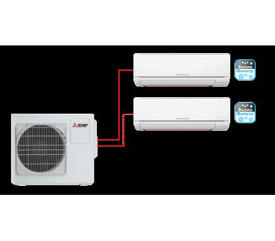 Мульти сплит-система Mitsubishi Electric MSZ-HJ25VA ER1 + MSZ-HJ50VA ER1 / MXZ-3HJ50VA ER1