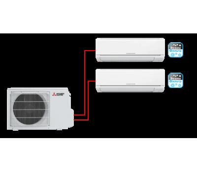 Мульти сплит-система Mitsubishi Electric MSZ-HJ25VA-ER1*2 / MXZ-2HJ40VA-ER1