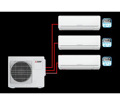 Мульти сплит-система Mitsubishi Electric MSZ-HJ25VA ER1*2 + MSZ-HJ35VA ER1 / MXZ-3HJ50VA ER1